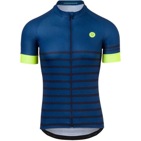 AGU Melange Fietsshirt Essential Heren Fietsshirt - Maat L - Blauw