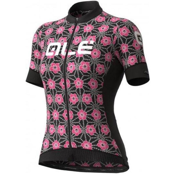 ALE Lady Short Sleeve Jersey Garda Black-Pink