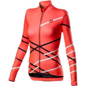 Castelli Fietsshirt Vrouwen Rood Wit Zwart