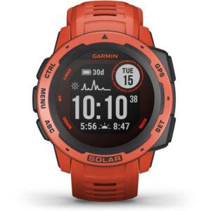 Garmin Instinct Solar - Sporthorloge - Flame Red - 45 mm