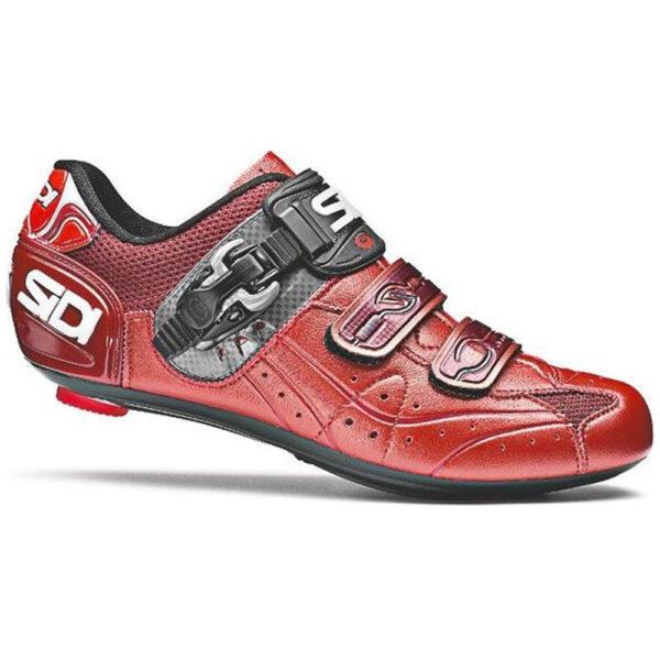 Sidi Genius 5.5 - Racefietsschoenen - Rood/Oranje - Carbon Composite Zool - Maat 44