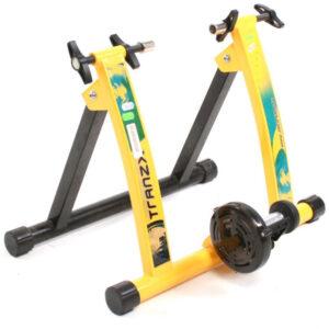 Fietstrainer - Rollenbank TranzX JD-113 geel - Trainingsstandaard voor Indoor Fietsen
